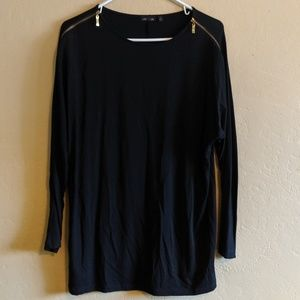 AVA Long Sleeve Top with Shoulder Zippers
